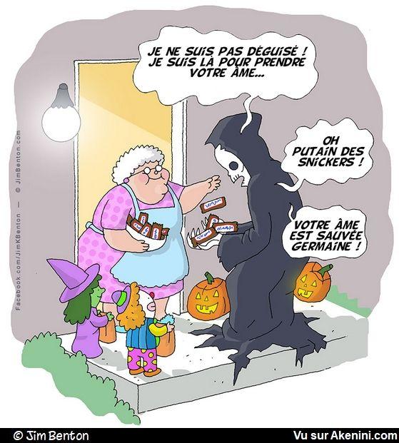 Humour Cartoons Halloween - Akenini.com | Tweets drole, Humour drole, Images drôles