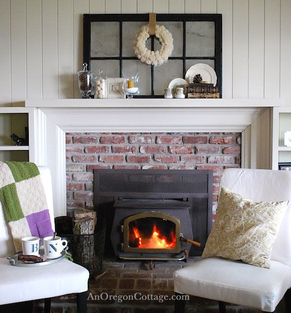 Calm quiet winter decor fireplaces mantels and white - White fireplace living room ideas ...