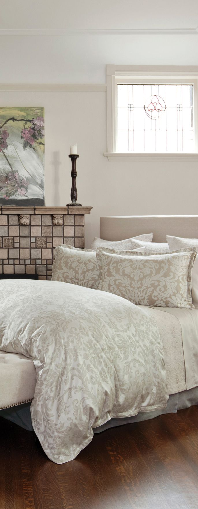 Catalina Terra - St. Geneve Cristalli Collection Fall 2015 #light #bedding #luxury #design #traditional