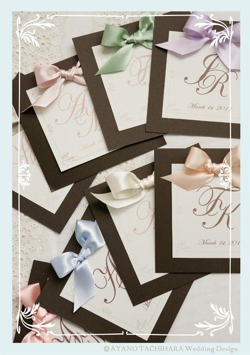 イニシャルプログラム by AYANO TACHIHARA Wedding Design