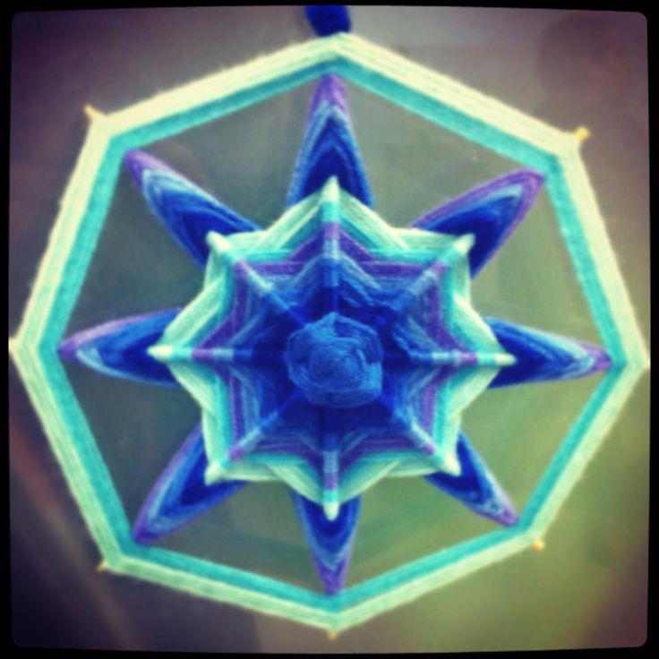 Blue is the warmest color - Mandala tejido.