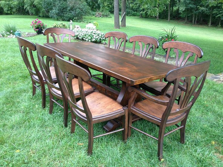 Made Out Of Reclaimed Barn Wood This White Pine Table With Its Manor House  Chairs Was