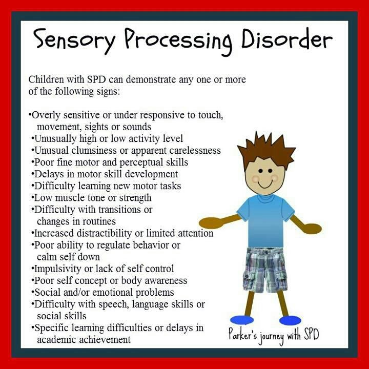SPD - Symptoms. Repinned by playwithjoy.com. For more sensory pins visit pinterest.com/playwithjoy