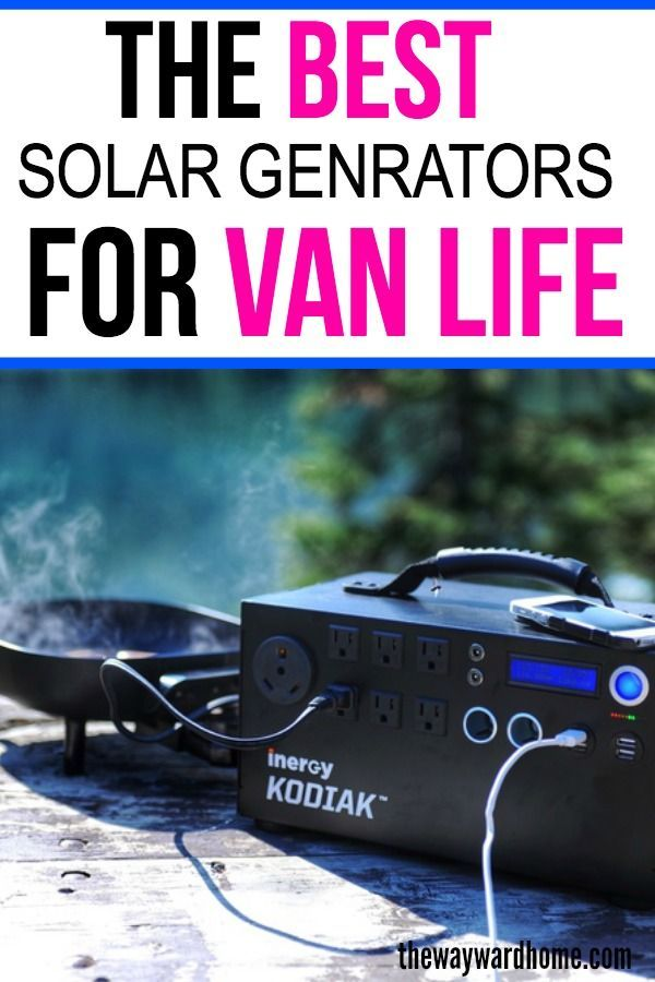 Solar Generator: The top sun-powered boxes in 2019 for van life