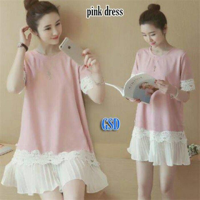 Jual Dress Pinky Bluesky Pakaian pesta wanita Dress Party - Risna shop | Tokopedia