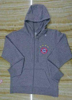 Bayern Munich Grey FCB Soccer Hoodies [J693]