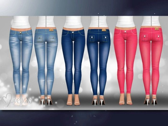 Smart Casual Skinny Jeans by MwDESIGNS - Sims 3 Downloads CC Caboodle
