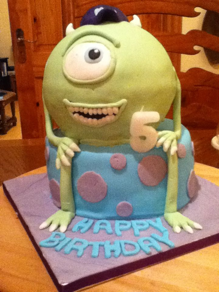 Mike & Sully cake....