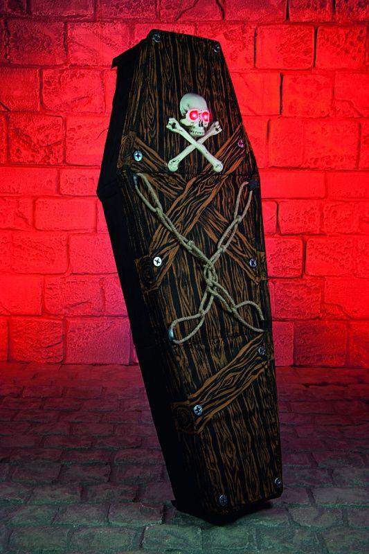 Dekoracja stojąca TRUMNA z czaszką (1.7m)