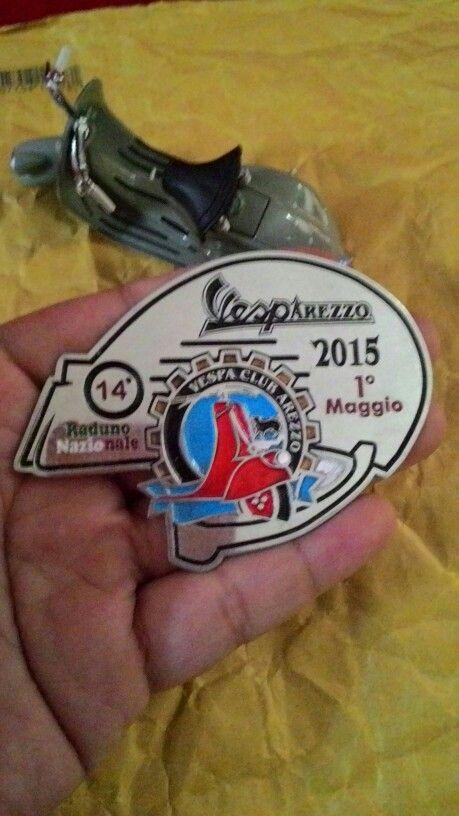Badge vespa arezzo 2015 1 maggio  Size. 7cm to 5.5cm