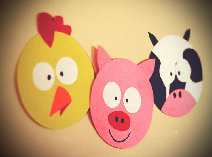 Création de souvenirs: Les animaux de la ferme en carton