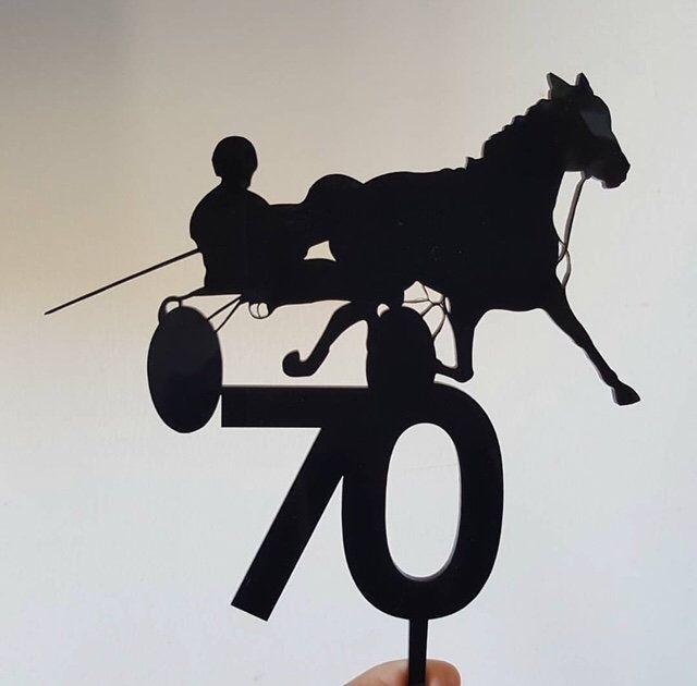 Groovy Racing Horse Cake Topper Horse Birthday Cake Topper Wood Gold Personalised Birthday Cards Xaembasilily Jamesorg