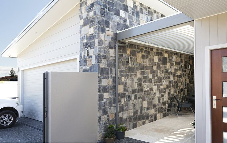 Ruby Loose Wall Cladding make a perfect contemporary entrance to your home. Visit our website to learn the various characteristics of each stone and receive individual assistance in choosing just the right product to beautify your home and garden.  http://www.armstone.com.au/product/walling/stone-cladding/ruby-stone-wall-cladding/ #Limestone, #stonecladding, #armstone, #Sydneylandcaper, #Foster,