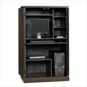 computer armoire in cinnamon cherry