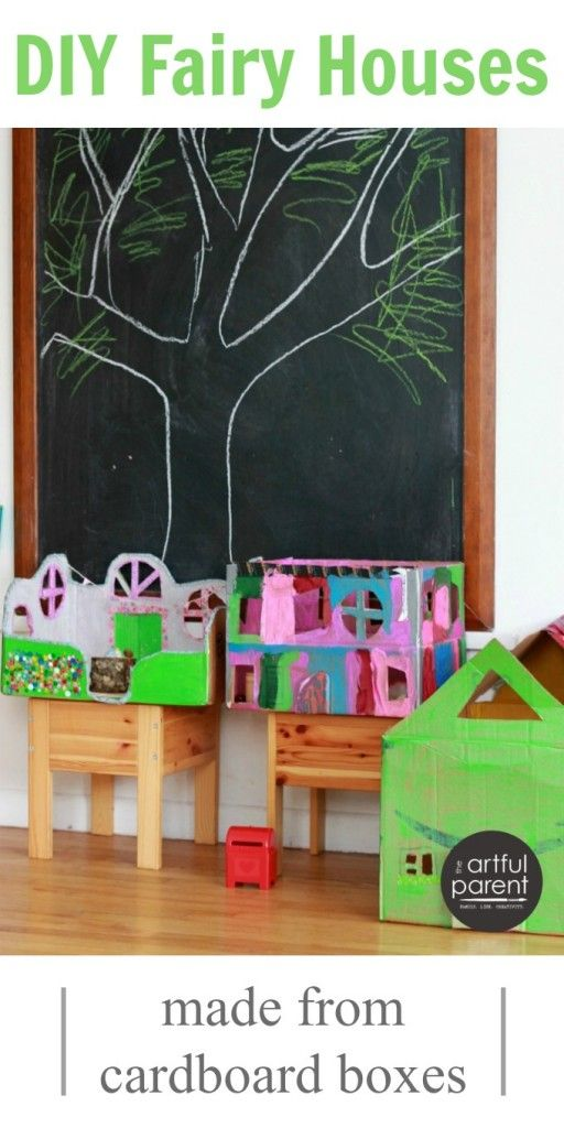 DIY Fairy Houses from Cardboard Boxes