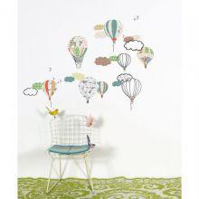 Αυτοκόλλητο+τοίχου+'Αερόστατα'