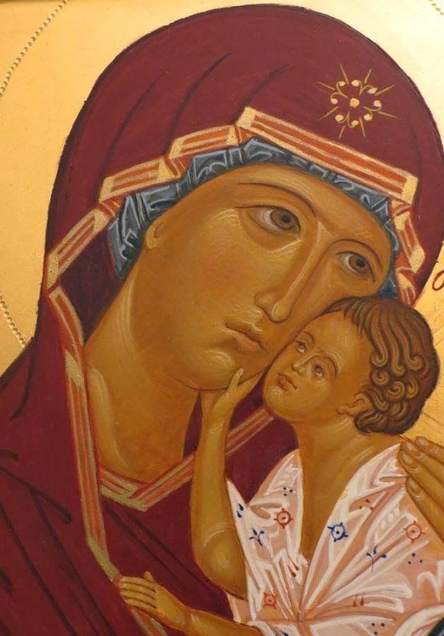 Madre di Dio di Jaroslav. particolare