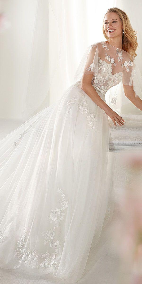 0e7d0ba951 Exquisite Tulle Bateau Neckline A-line Wedding Dress With Lace Appliques    Beadings   3D Flowers