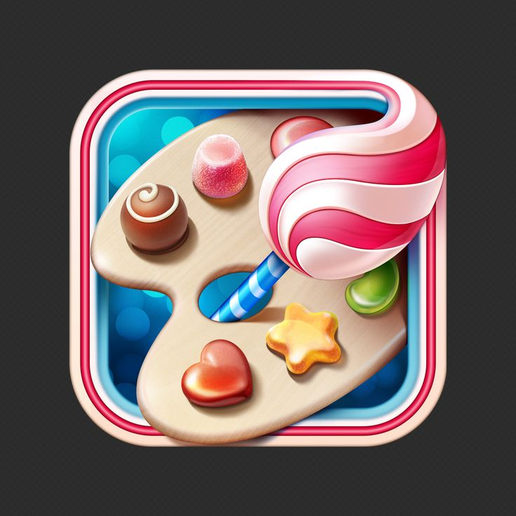 Sweet App icon #icon #design #sweet #chocolate #ramotion #iOS #app #iphone #appstore #inspiration #illustration