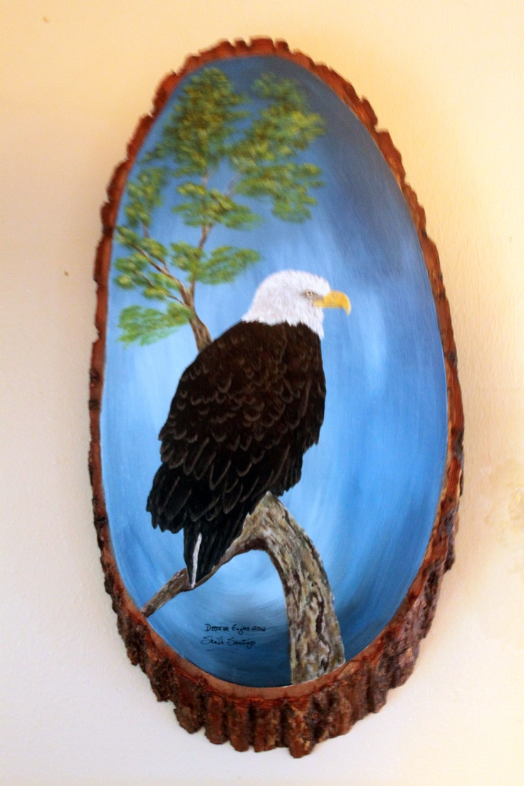 Painting of Decorah Eagle 2012 by Sheila Santiago.  www.sheilaspaintedcreations.com    Gorgeous!!!!!!!!!!!