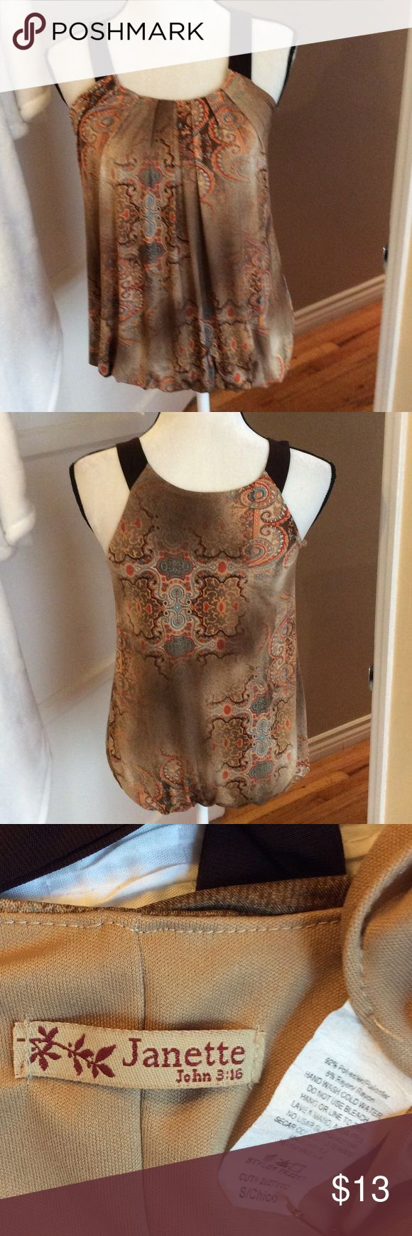 Very fresh  top w lining Very fresh top w lining thick straps to hide bra strap Janette Tops Blouses