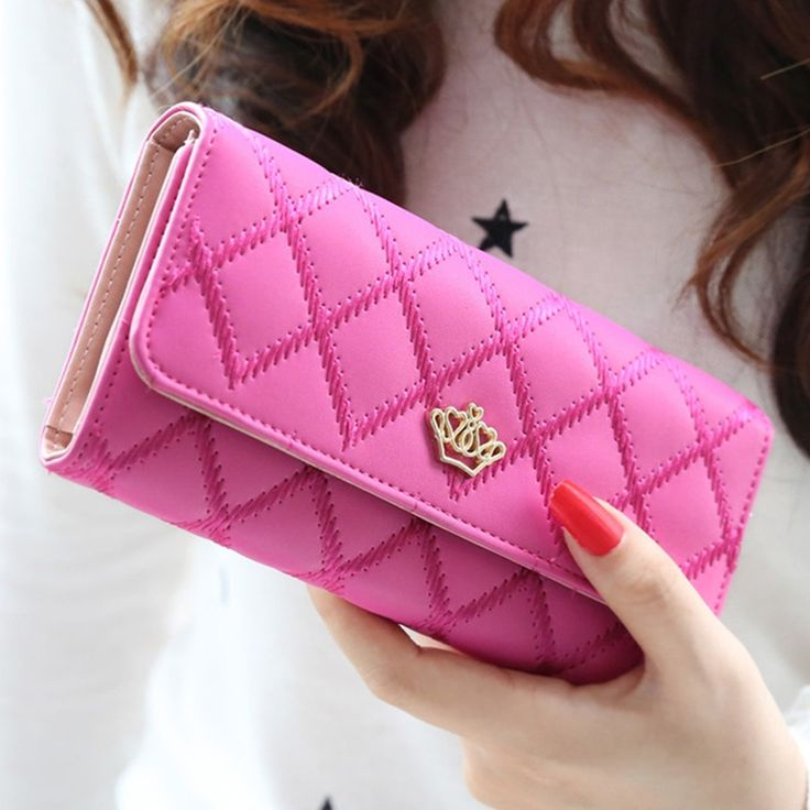 New Brand  Designer women Wallets Plaid fashion lady Purse  High Quality PU Leather Women Wallet  8 Colours