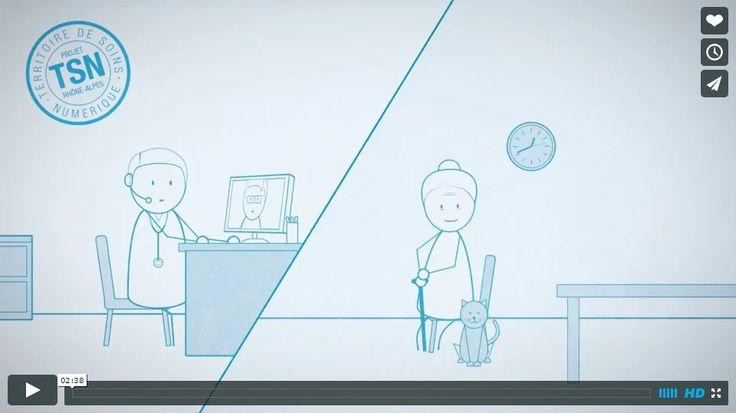"""Dessin animé programme """"Pascaline"""" de l'ARS en 2014 L'ARS Rhône-Alpes vient d'être sélectionnée pour l'appel à projets national « Territoire de soins numérique » (TSN) avec son programme PASCALINE(Parcours de santé coordonné et accès à l'innovation numérique). Pour cela deux vidéos de présentation ont été créées par Concept Image et présentées lors de l'assemblée générale de l'ARS Rhône-Alpes en 2010"""