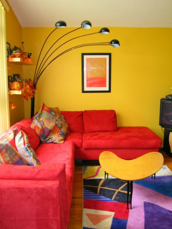 Die besten 25+ Wohnzimmer rot Ideen auf Pinterest | Roter sofa ...