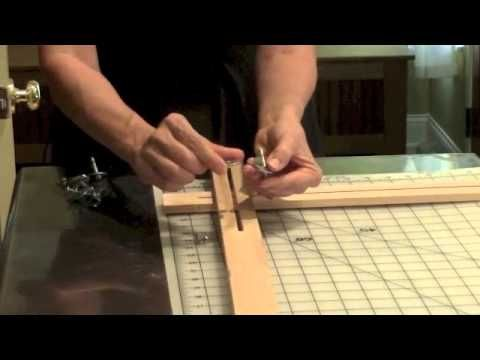 How to Make and Assemble an Adjustable Silk Painting Frame, with Pamela Glose