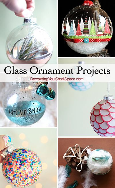 DIY Glass Ornament Projects • Lots of ideas and tutorials!