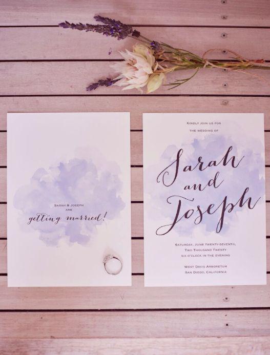 Watercolor Splash Handwritten Wedding Invitation From Invitations By  Davidu0027s Bridal