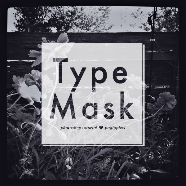 How to use the Type Mask Tool