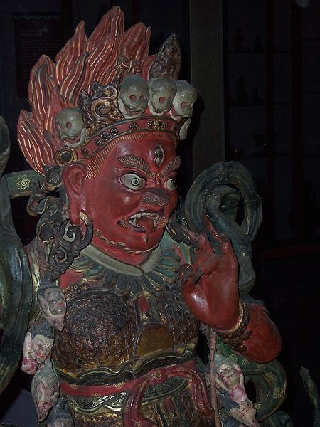 Yama, Dharmapala, the Lord of Death, is revered in Tibet as a guardian of spiritual practice, and was likely revered even before the conversion of Tibet from Bön to Buddhism in the 4th century Field Museum, Chicago.