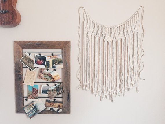 the ELLA | sweet little yarn wall hanging | macrame curtain | bohemian | hippie | nursery decor