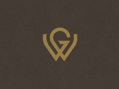 """GW Monogram by Jonas Söder use of """"W"""" - maybe do something with W and & sign..."""