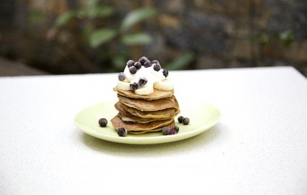 pancakes με 3 υλικά