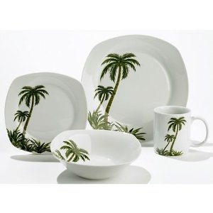 Palm Trees Dinnerware And Palms On Pinterest