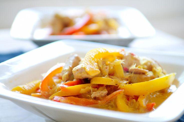 Kip met paprika en sinaasappel