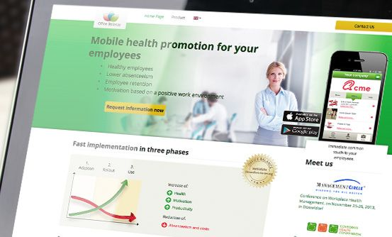 www.officebalanceapp.com - aplikacja umożliwiająca promocję zdrowia wśród pracowników // app that allows you to promote health among employees