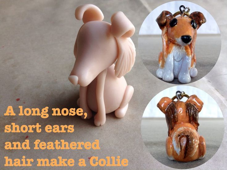 To make a Rough Collie lengthen the nose of the Mini Pup Base One, add feathered hair and short ears. http://jebarsby.weebly.com/blog/re-fur-pups