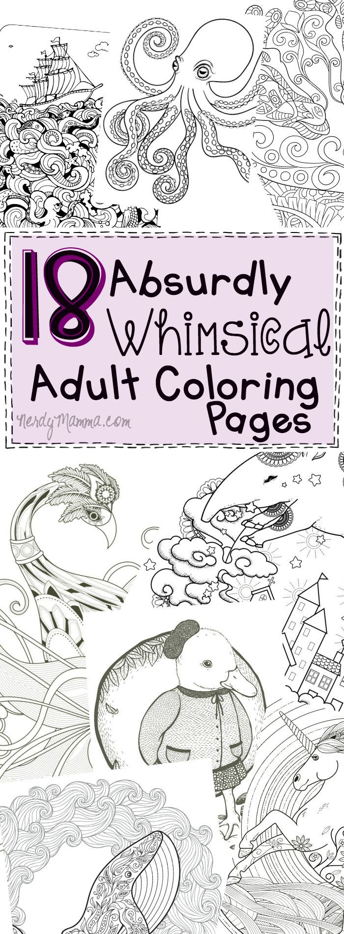 Coloring pages for down syndrome adults - 18 Absurdly Whimsical Adult Coloring Pages