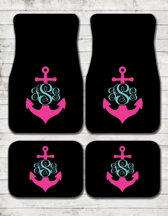 Car Mats Anchor Personalized Custom Car Mats by ChicMonogram