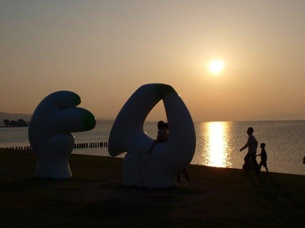Shimane, Shin-ji lake's sunset.
