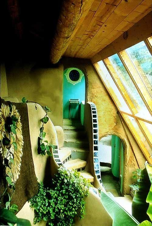 It would be really awesome to have a waterfall in this area, though it's not in the nature of the earthship.