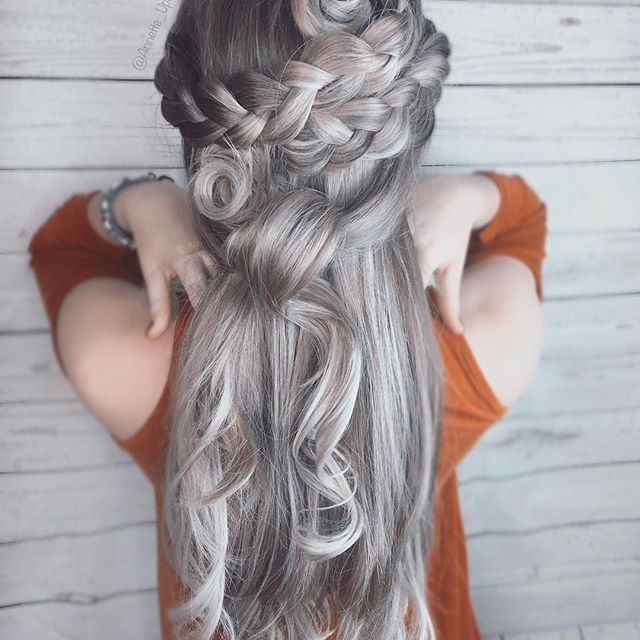 ❤ Repost from @annette_updo_artist - Braids & Swirlsby me  I used @kenraprofessional HiDef Matte Hairspray in this style  #kenraprofessional #kreate #licensedtocreate #braidfashion #hairinspo #bridal #bridalupdo