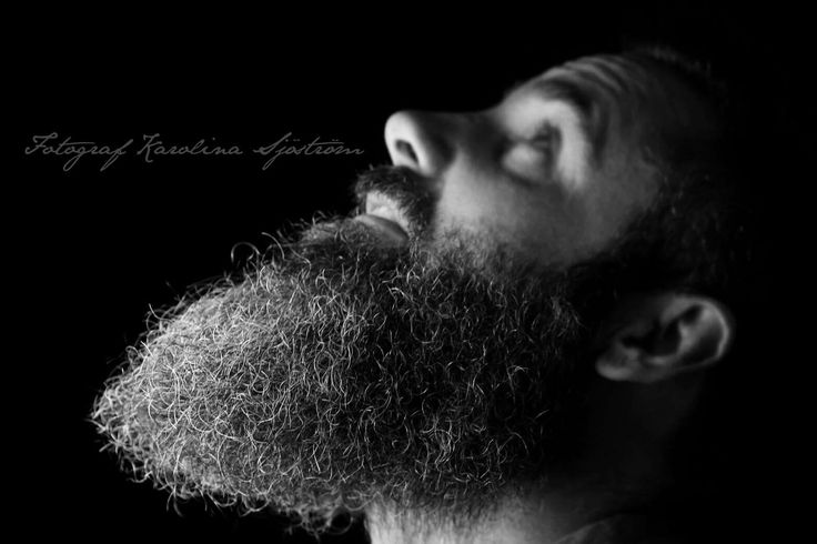 Photo by Karolina Sjöström Blackandwhite photography Beard and shadow
