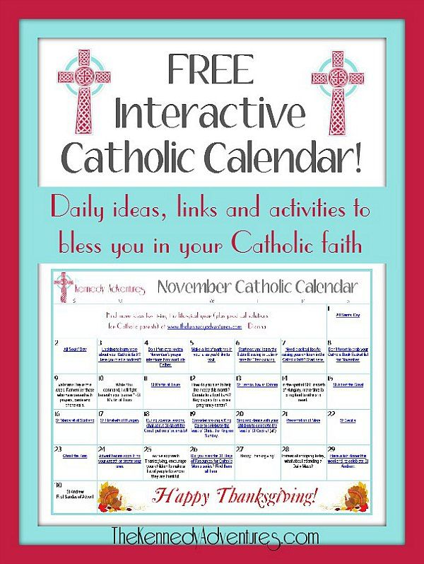 Catholic Family Calendar November - ideas for living the liturgical year and creating your domestic church