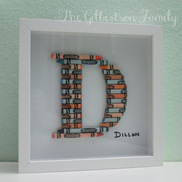 diy crayon letter love this although an o might prove a bit