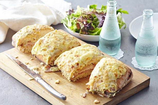 This is giant veresion of the classic French toastie is a fun and easy dish for lunch with friends and family