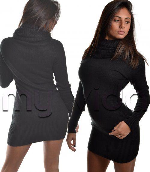 Collezione Pullover donna vestito collo alto lana | My Vida